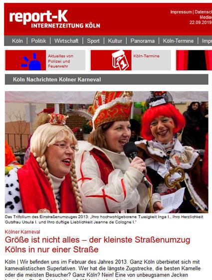 09.02.2013: Kölner Karneval - Größe ist nicht alles – der kleinste Straßenumzug Kölns  in nur einer Straße