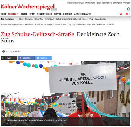 25.02.2017: Zug Schulze-Delitzsch-Straße - Der kleinste Zoch Kölns