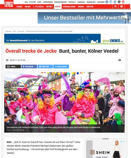 26.02.2017: Överall trecke de Jecke Bunt, bunter, Kölner Veedel