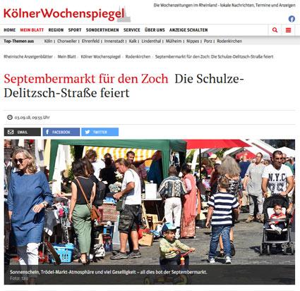 03.09.2018: Septembermarkt für den Zoch - Die Schulze-Delitzsch-Straße feiert