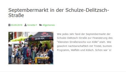 03.09.2018: Septembermarkt in der Schulze-Delitzsch-Straße